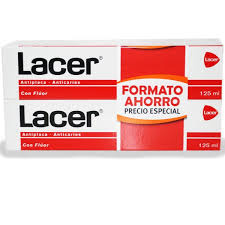 DENTÍFRICO LACER DUPLO 2X125 ML